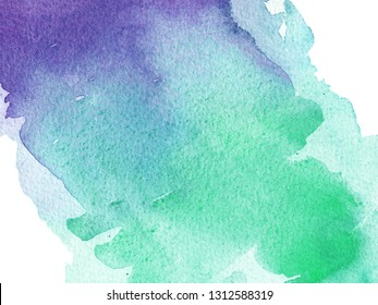 watercolor hand painted purple, green and turquoise background, watercolor, gradient, bisness ang greeting cards
