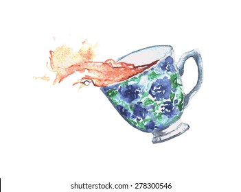 Spilled Tea Images, Stock Photos & Vectors   Shutterstock