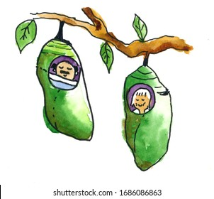 Cartoon Cocoon Images Stock Photos Vectors Shutterstock