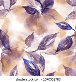 Watercolor Illustration. Floral Seamless Pattern.