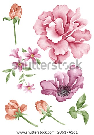 Royalty Free Stock Illustration Of Watercolor Illustration Flower