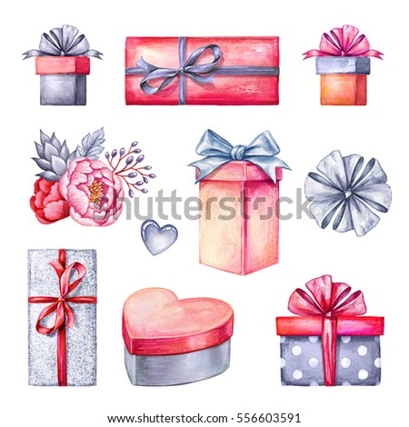 Royalty Free Stock Illustration Of Watercolor Illustration Gift