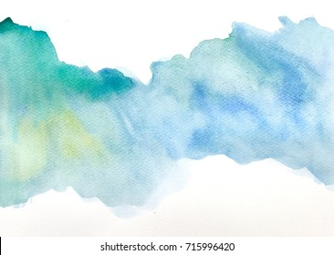 Watercolor illustration with white background on paper