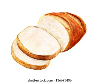 Bread Loaf Watercolor Images Stock Photos Vectors Shutterstock