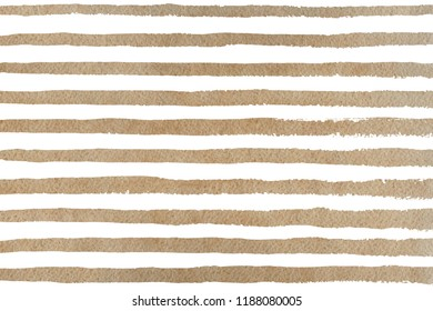 Watercolor khaki brush strokes on white background. Hand drawn grunge stripes pattern for fabric print, textile design, fashion.