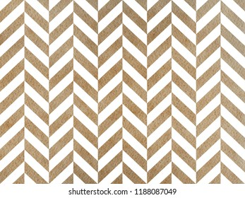 Watercolor khaki stripes background, chevron. Watercolor geometric pattern