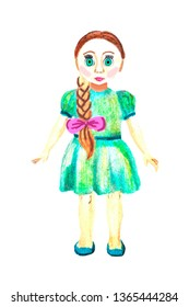 Watercolor kid toy - doll