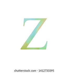 Watercolor Letter Z Typography Art