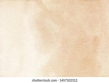 Watercolor light cream color ombre background texture. Aquarelle abstract pastel beige gradient backdrop. Watercolour horizontal trendy template. Textured paper overlay.