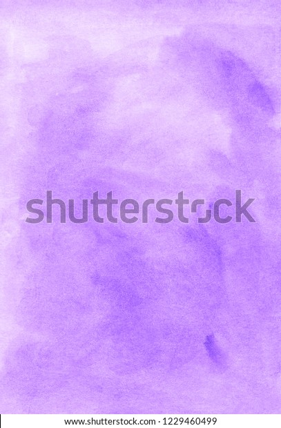 Watercolor Light Violet Background Hand Painted Stock