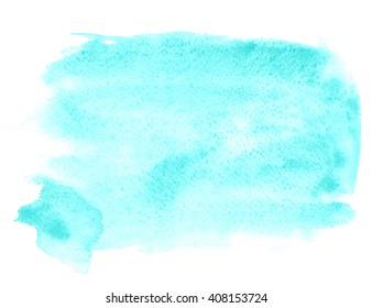 Watercolor limpet shell background/Watercolor  turquoise watercolor background for Photoshop