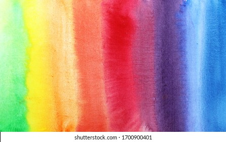 Watercolor multi-colored background. Rainbow. Background for the design.
