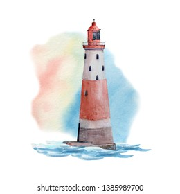 Watercolor nautical collection. Watercolor isolated. Perfect for invitation, wedding or greeting cards.