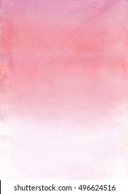 Watercolor ombre texture. Tender, light watercolor background paper for wedding design and invitations. Feminine pink watercolors