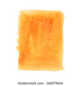 Watercolor orange spot isolated