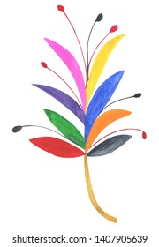 Watercolor Otomi Illustration, Otomi Clipart