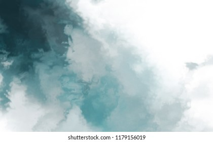 Watercolor painted background. Abstract Illustration wallpaper. Brush stroked painting.