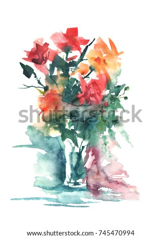 Royalty Free Stock Illustration of Watercolor Painting Bouquet ... on flower wreath painting, bird-and-flower painting, flower bowl painting, flower box painting, flower butterfly painting, bottle flower painting, flower oil paintings christmas, flower bed painting, flower table painting, candle painting, flower girl painting, flower white painting, frame painting, flower light painting, modern palette knife painting, flower mirror painting, flower vases with flowers, flower still life oil paintings, flower window painting, flower stand painting,
