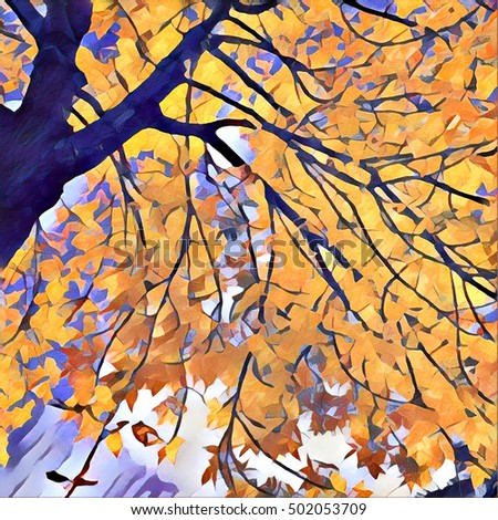 Royalty Free Stock Illustration Of Watercolor Painting Fall Tree