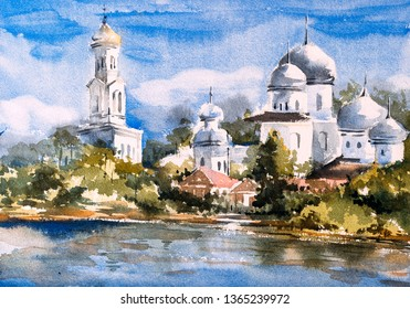 Watercolor Painting - Istanbul