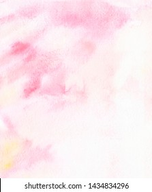 watercolor pale pink background with yellow splash and gradient