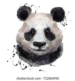 watercolor panda
