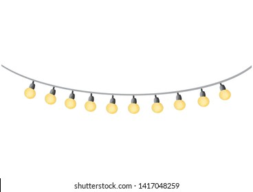 Watercolor party light bulb. Isolated on white background. Clipping path included.