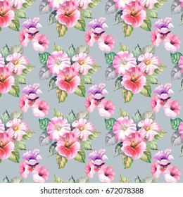 watercolor pattern with flowers