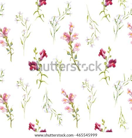 e9709edfe Watercolor Pattern Flowers Small Delicate Flowers Stockillustration ...