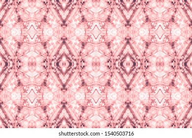 Watercolor Pattern On Paper Texture. Graphics Painting. Boho Border Print. Decorative Design. Abstract Tunisian Ethnic Element. Nippy Blush, Grey On White.