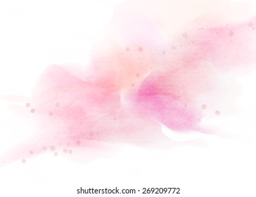 Watercolor pink background.
