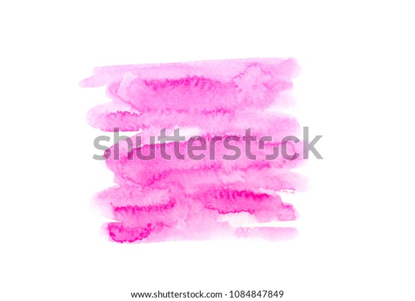 watercolor pink background.by drawing