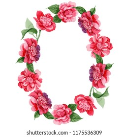 Climbing flowers images stock photos vectors shutterstock watercolor pink camellia climbing flower floral botanical flower frame border ornament square aquarelle mightylinksfo