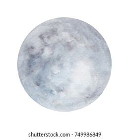 Watercolor planet on a white background