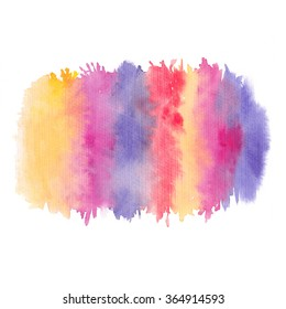 Watercolor rainbow background, texture, wallpaper. Watercolor wash. Logo background, greeting cards background.