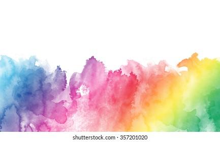 Rainbow Watercolor Border Images Stock Photos Vectors Shutterstock
