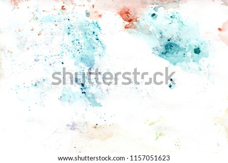 Watercolor rainy background for Social Media Design, artistic banners, background of invitation.