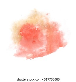 watercolor red green textured backdrop, abstract watercolor hand paint texture, isolated on white background, watercolor drop
