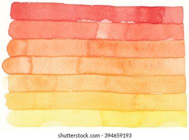 watercolor red orange stripe