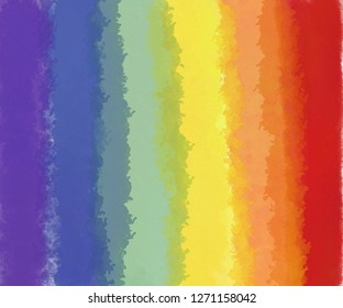 brackground​ watercolor rainbow.​ Red, orange, yellow, green, blue, purple textured brushes.​ concept​ of​ same-sex homosexual relationships of​ bisexual, gay and​ lesbian.​