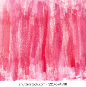 Watercolor red pink brush strokes background