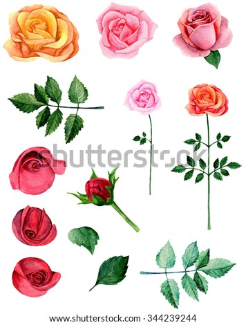 Watercolor red roses clipart pink flowers stock illustration watercolor red roses clipart pink flowers clip art mightylinksfo