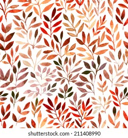 Watercolor Retro seamless pattern with trees.Seamless Tree Pattern. Seamless tree pattern with watercolor graphic which can be used as wallpaper. Autumn layout