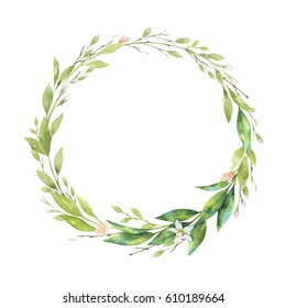 Watercolor round frame fruit orange branch isolated on white background. Illustration for design wedding invitations, greeting cards, postcards, kitchen and save the date.