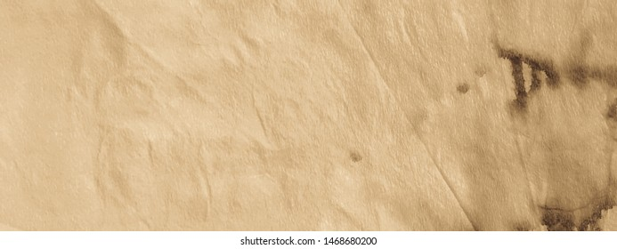Watercolor Sandy Background. Coffee Tie Dye Brushed. Beige Watercolor Banner. Tan Wash Background. Abstract Tie Dye. Tanned Tan Wash Background.