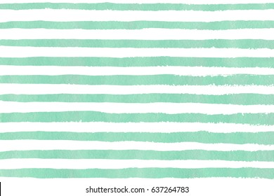 Watercolor seafoam blue brush strokes on white background. Hand drawn grunge stripes pattern for fabric print, textile design, fashion.