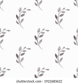 Watercolor seamless pattern with flowers. Texture for wrapping paper, fabric, cards and invitations.
