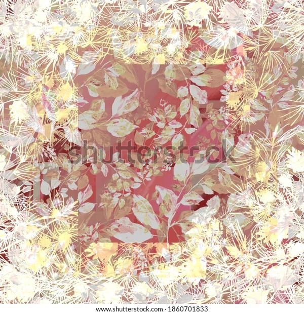 Watercolor seamless pattern. Illustration. Flowers