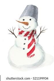 Watercolor snowman