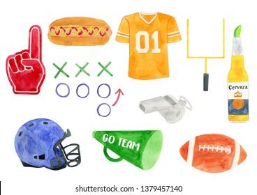 Watercolor Soccer Illustration